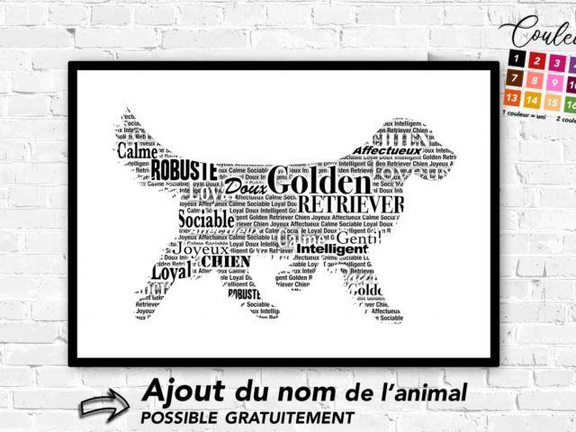 Image 1 - Golden Retriever typographique