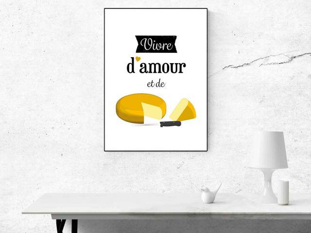 Image Vivre d'amour et de fromage