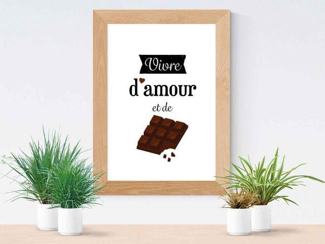 Image Vivre d'amour et de chocolat