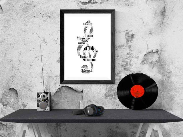 Image Clef de sol Musicien typographique